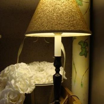Tafellamp klassiek bronzen voetje