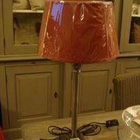 Tafellamp klassiek nikkel voet vierkant