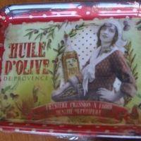 """Dienblaadje/tray, klein, """"Huile d'Olive"""""""
