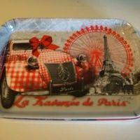 "Dienblaadje/tray, klein, ""La traversée de Paris"""