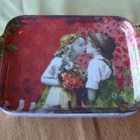 "Dienblaadje/tray, klein ""Baiser sucré"""
