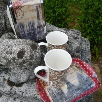 "Dienblaadje/tray, klein, ""Paris Monuments"""