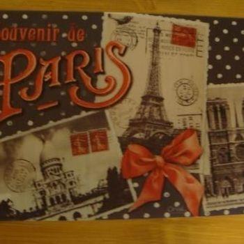"""Placemat """"Souvenir de Paris"""""""